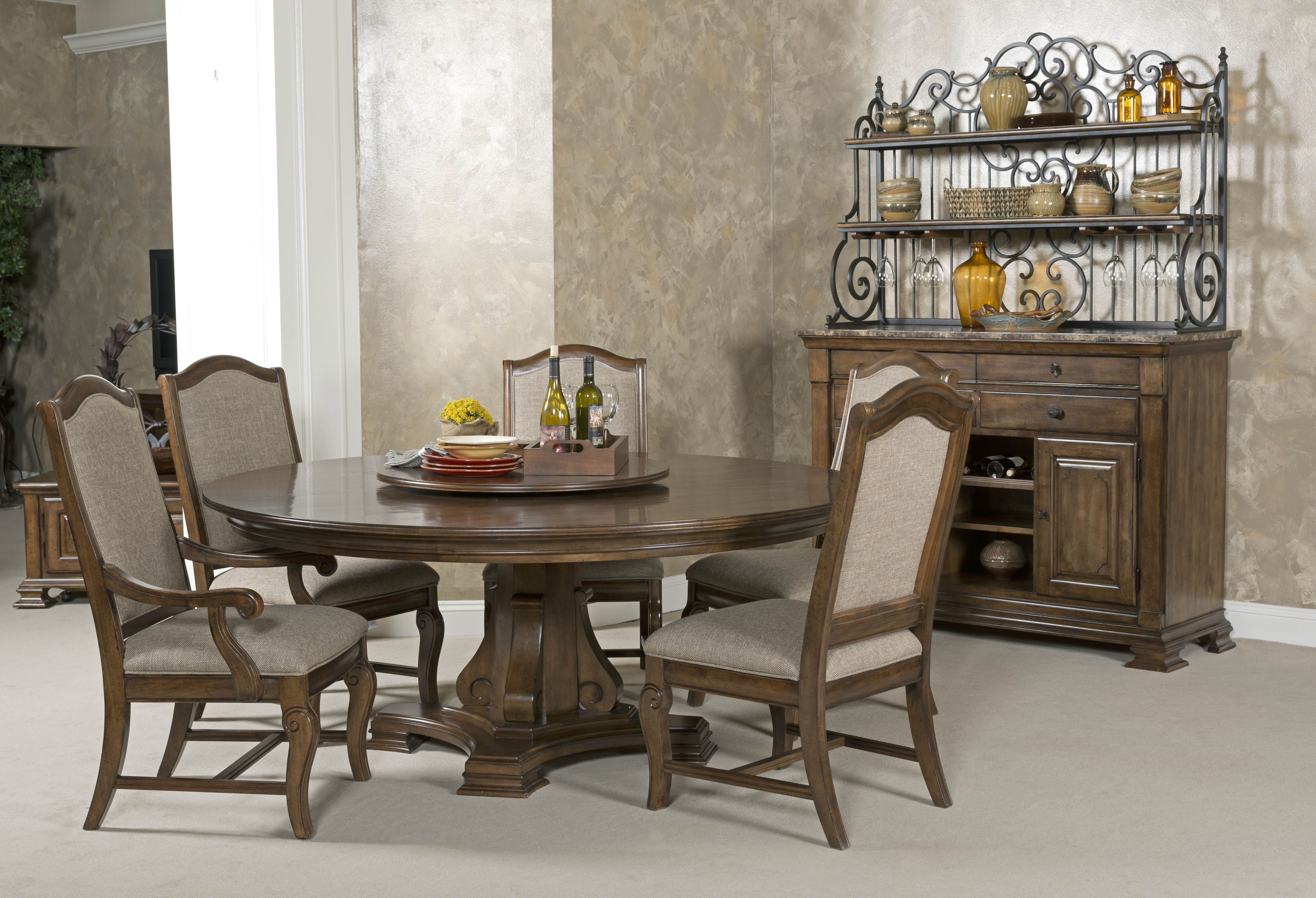 Inspired By A Trip To A Tuscan Hill Town Portolone Has The Soul Of The Old World But Is Built T Round Dining Room Sets Round Dining Room 60 Round Dining Table