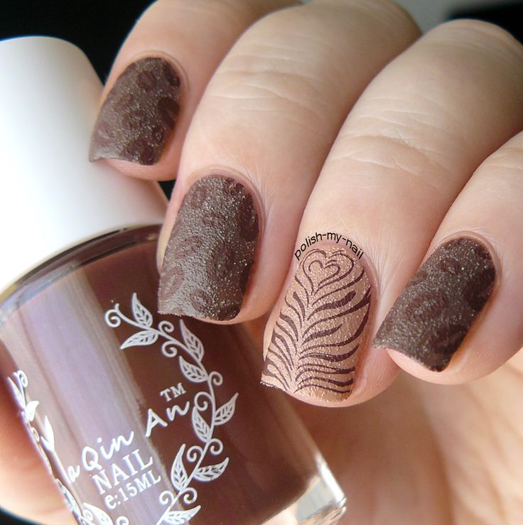 Image result for pink and brown nails - Image Result For Pink And Brown Nails NAILS 2 Pinterest Brown