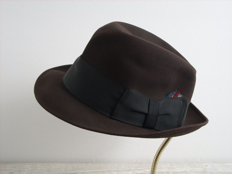 6389dc96d06 Vintage Resistol Self Conforming 990 Melorol Mens Fedora Hat Size 7 1 8 ~  Desmond s La Crosse WI by RetrOAmyO on Etsy