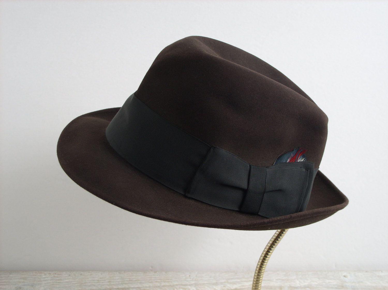 bba844f7e5 Vintage Resistol Self Conforming 990 Melorol Mens Fedora Hat Size 7 1 8 ~  Desmond s La Crosse WI by RetrOAmyO on Etsy