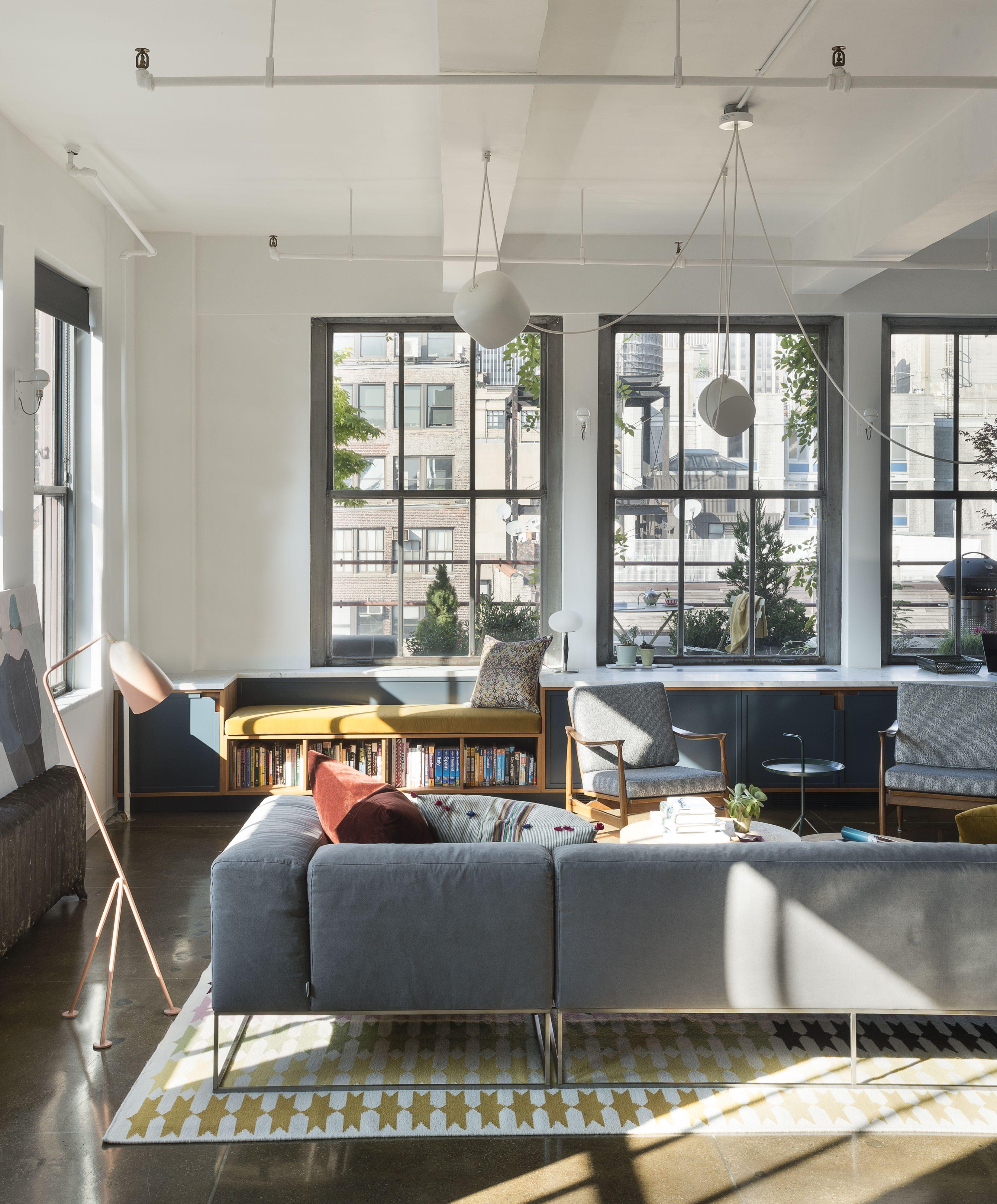 Chelsea Loft Living Room Apartment Lighting Simple Apart