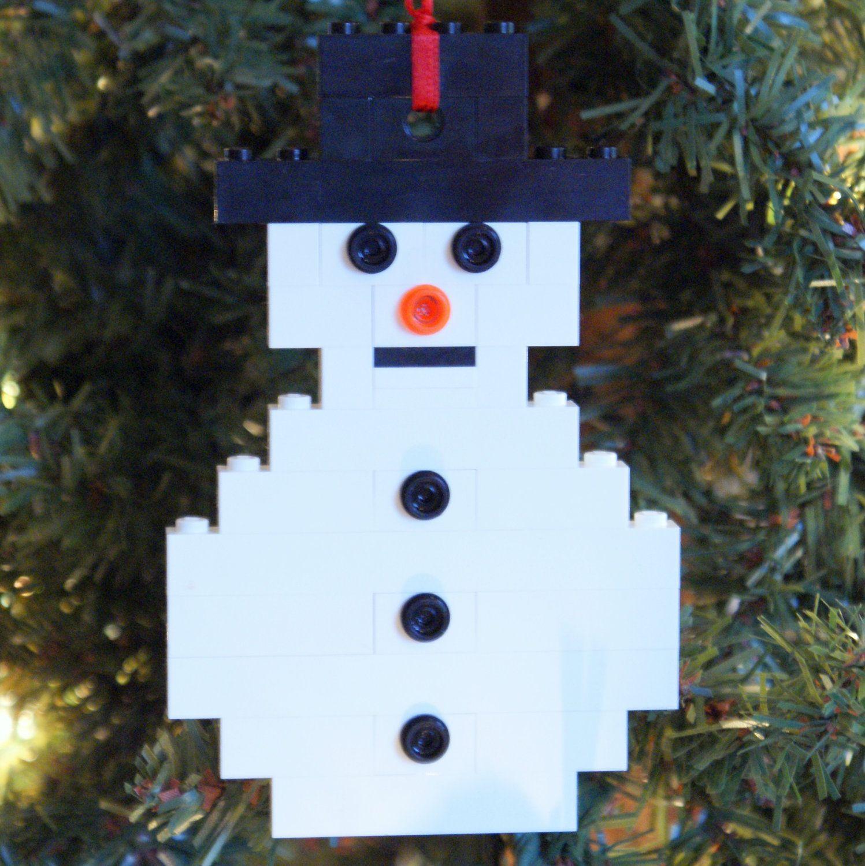 Buildit kit lego flat snowman christmas ornament christmas