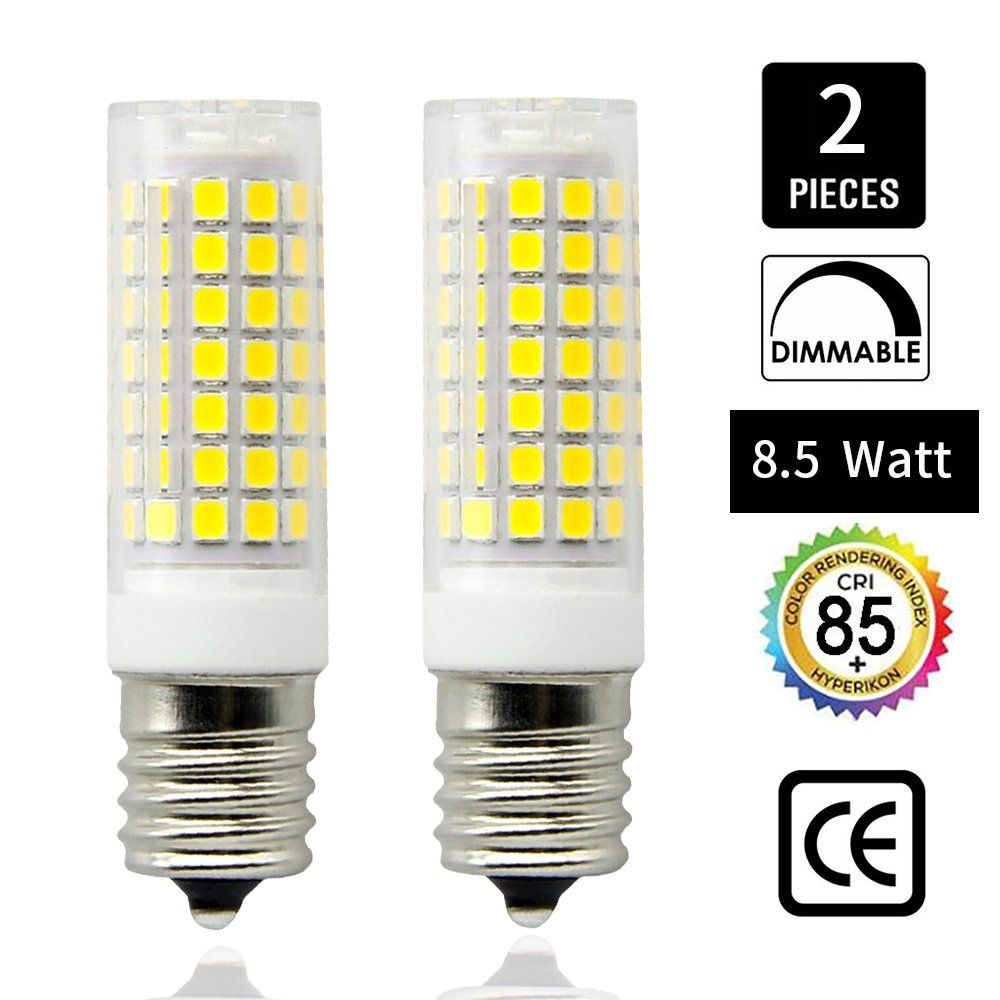 E17 Led Bulb Microwave Oven Light 850 Lumens Daylight White 6000k 8 5w 75w Halogen Equivalent Dimmable88x2835 Smd Ac110130vi ˆpack Of 2i Light Bulb Bulb Led