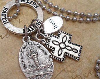 St. Jude Charm Necklace Patron Saint Holy Medal by MarysPrayers