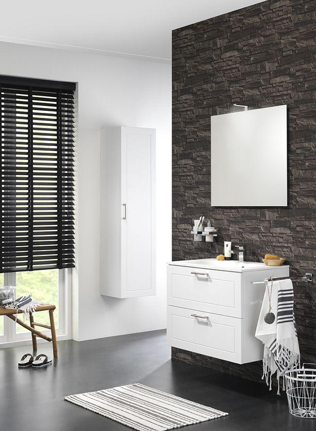 Manor wastafelonderkast + kolomkast. Kleur: wit mat | Tiger badkamer ...