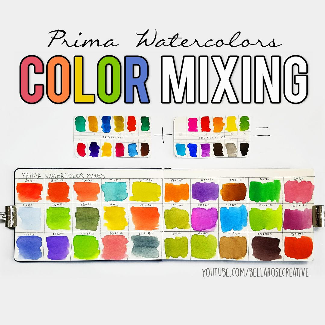 Mixing Prima Watercolors To Create 30 New Colors Prima