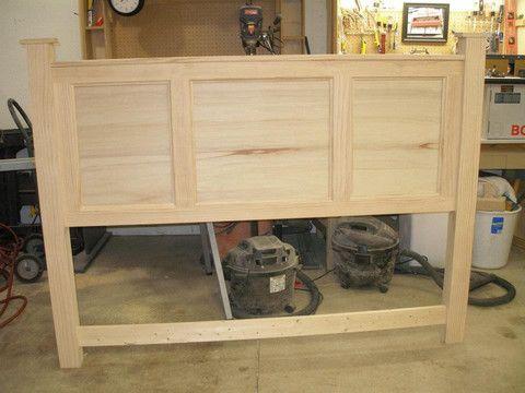 Queen Raised Panel Headboard Fremont Wood Works