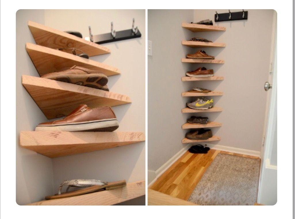 Corner Shoe Rack Shoe Storage Small Space Diy Shoe Storage Shoe Shelf Diy