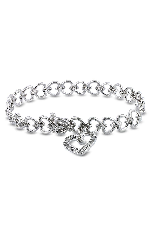 Diamond hearts bracelet jewelry jubilee pinterest diamond