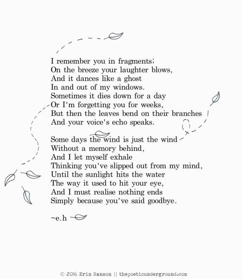 I remember you in fragments Its a Heartache Pinterest Poem