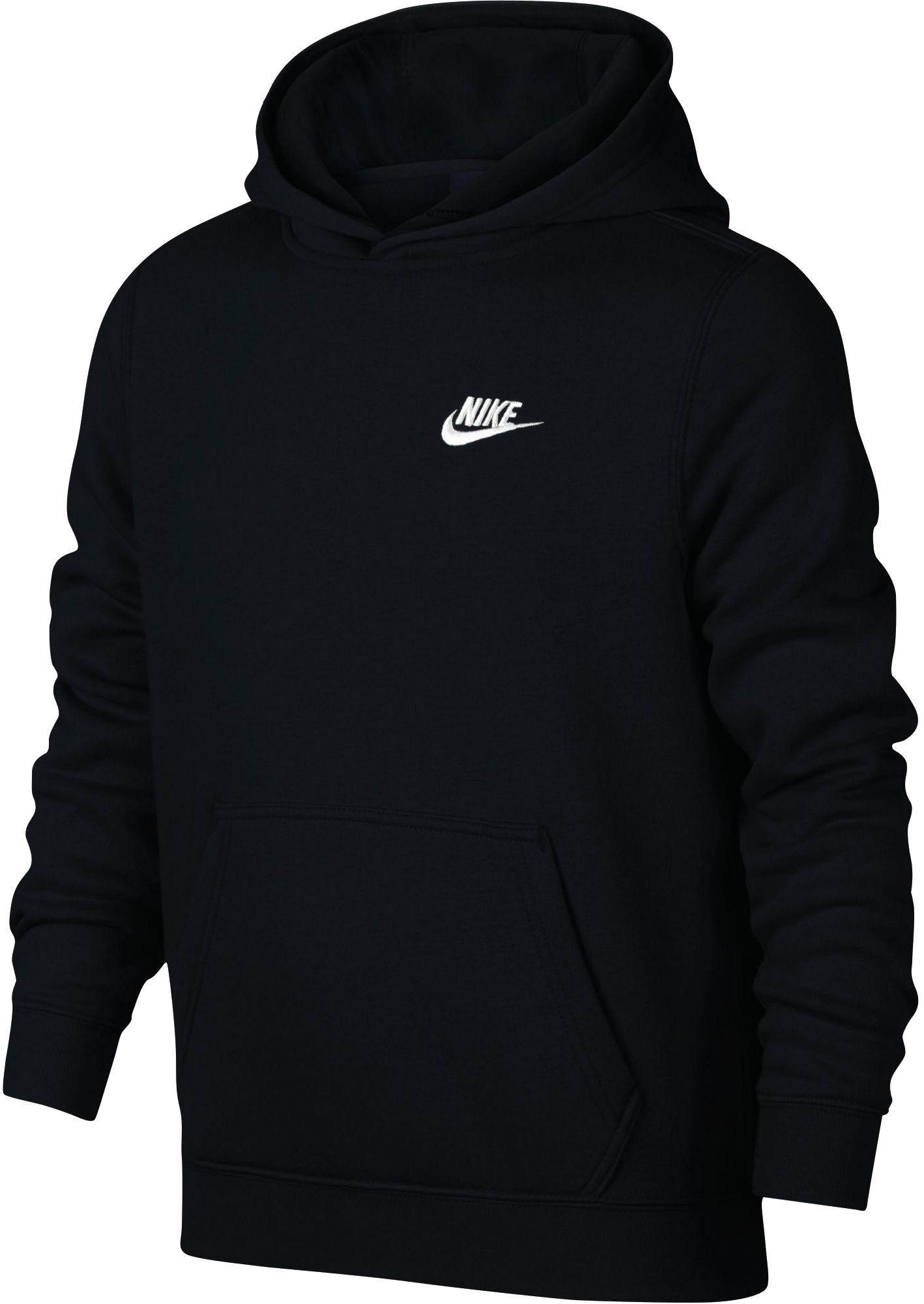Nike Boys Sportswear Club Cotton Fleece Hoodie Size Medium Black In 2020 Hoodies Nike Pullover Hoodie Fleece Hoodie [ 2000 x 1418 Pixel ]