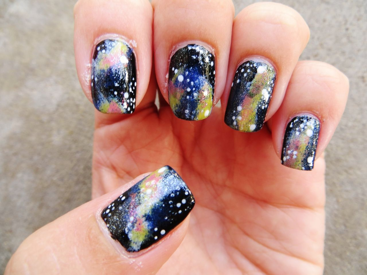 AWESOME nail art tumblr   Galaxy   beauty and that   Pinterest ...