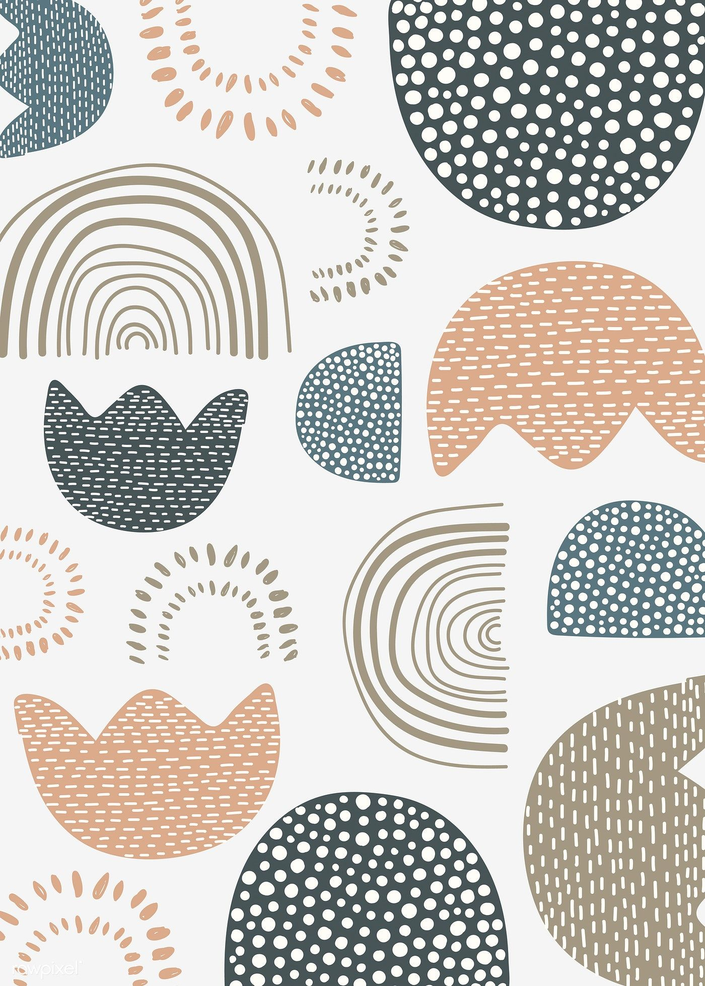 Download premium vector of Natural patterned doodle background vector #pastelpattern
