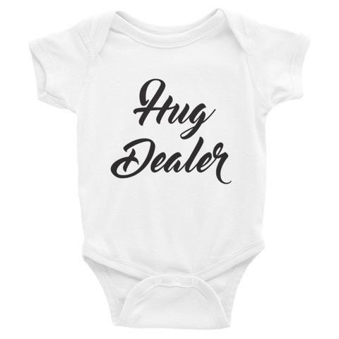 """Hug Dealer"" Short Sleeve Onesie"