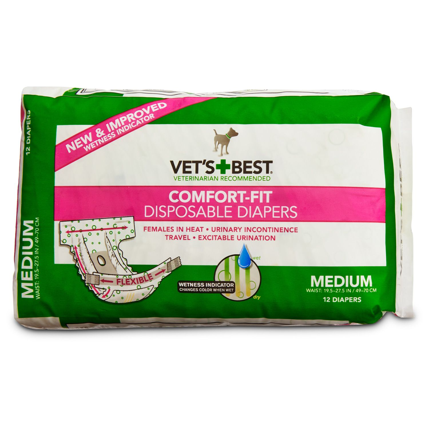 Vet s Best fort Fit Disposable Dog Diapers Animals