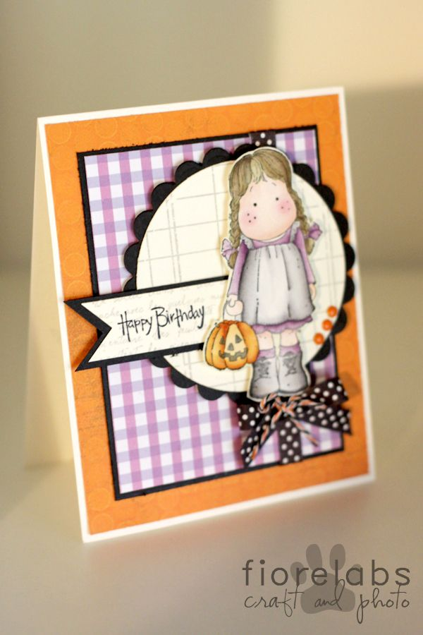 Countrypainting Halloween Birthday Card Stamping And Crafts