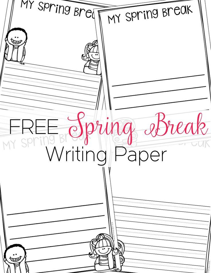 13ccecd639 Spring Break Writing made easy with this template! Get your students back in  the groove as they write to share about their time away from school!