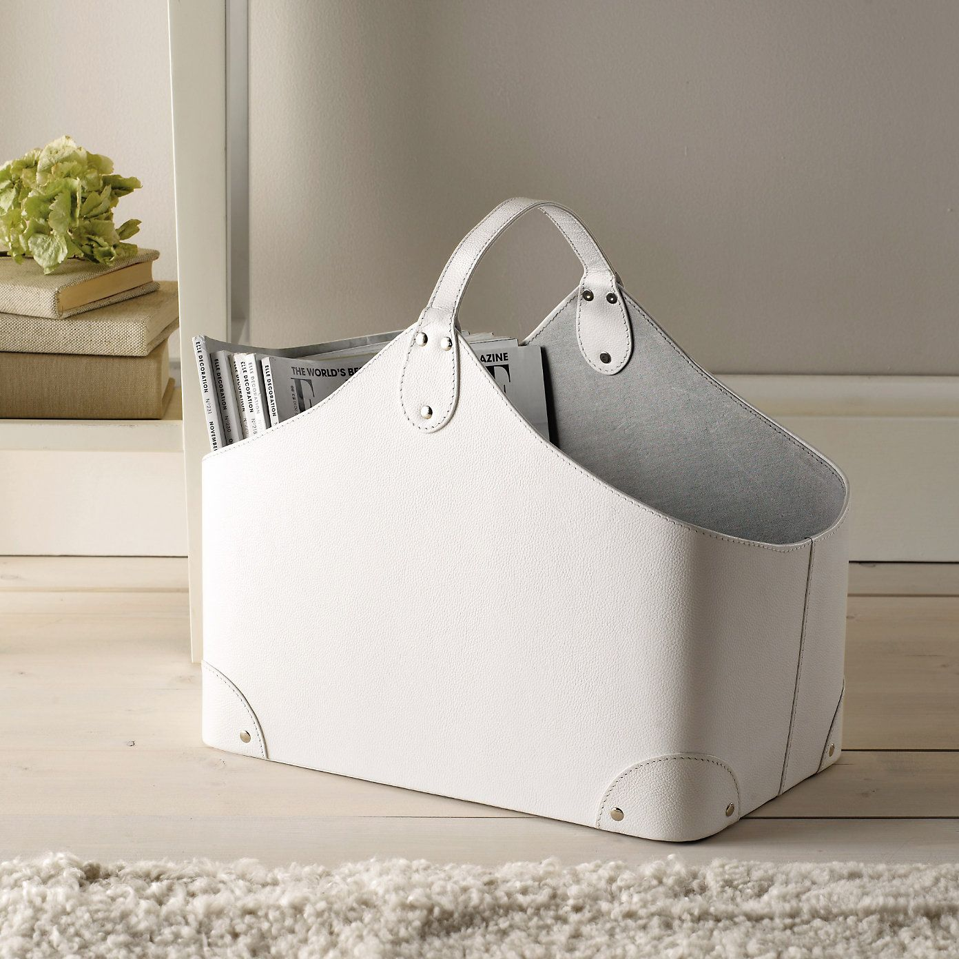 Leather magazine holder - The White Company   My Style ...