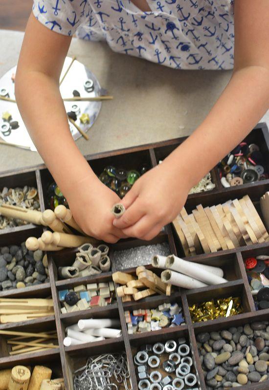 preschool art table. How To Make Tinker Trays For Kids Open Ended Process Art - Reggio Inspired Preschool Table