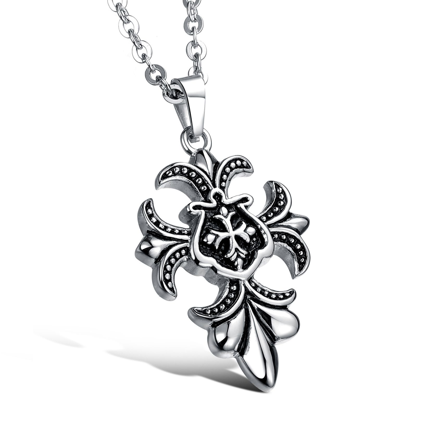 Obsede new arrival stainless steel exquisite fancy flowers necklace