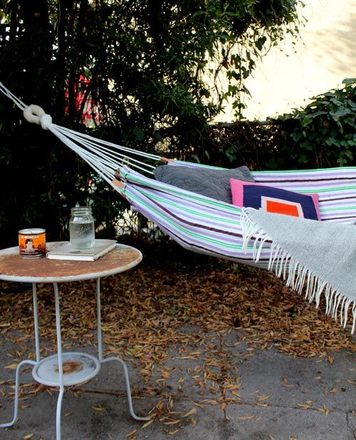 hammock - made from a beach towel!