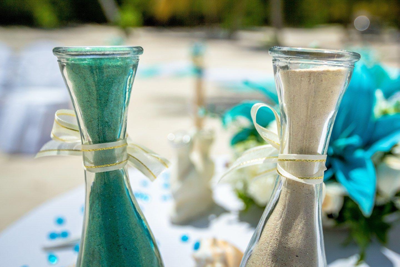 Beach wedding sand ceremony sets  Dominican Republic Tiffany Style Wedding by Caribbeanwedding