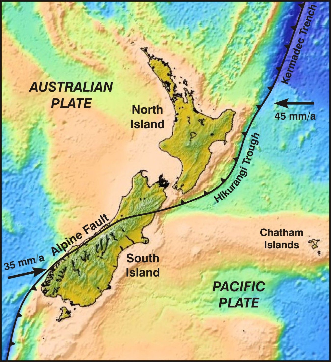 New Zealand sits on the boundary of two tectonic plates. Image / Supplied  sc 1 st  Pinterest & New Zealand sits on the boundary of two tectonic plates. Image ...
