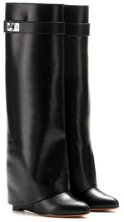 Givenchy Leather Wedge Boots  57ad3b73a