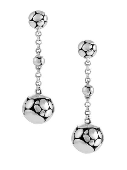 99922801b John Hardy Kali Silver Long Drop Earrings | ARTISAN | Jewelry ...