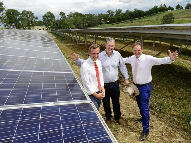 Power Churchill Abattoir Has Officially Turned On Its New 1 Megawatt Solar Farm From Left Environment Minister Dr Steven Solar Farm Solar Roof Solar Panel