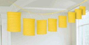 Amscan // Yellow Paper Lantern Garland   12' - $9.45