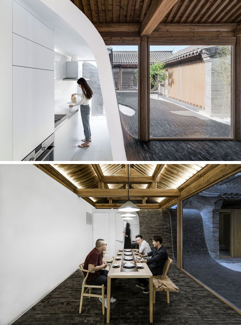 This Renovated Historical Residence Features Tile Flowing From The ...