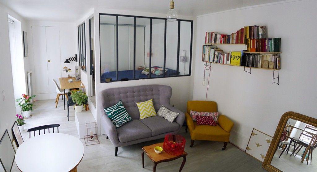 Appart 39 2 deco appartement deco petit appartement id e - Deco salon chambre ...