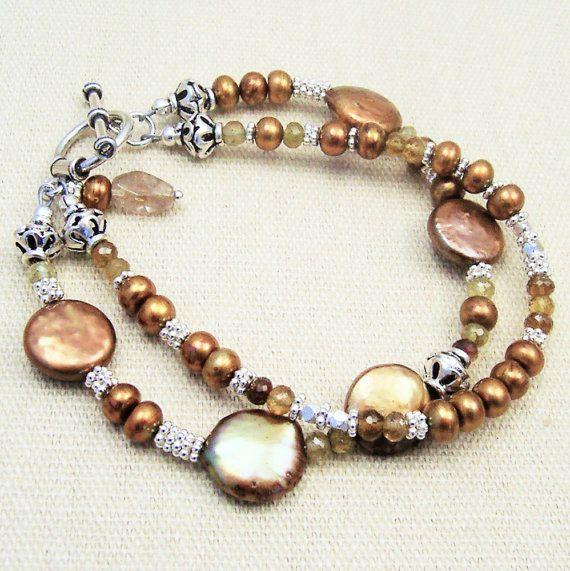 How Much Are Charm Bracelets: Coin Pearl Bracelet, Bronze Pearl Bracelet Multi Strand