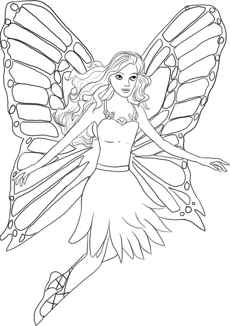 Ausmalbilder Zum Ausdrucken Barbie : Barbie Coloring Pages Barbie Mariposa Coloring Pages Free