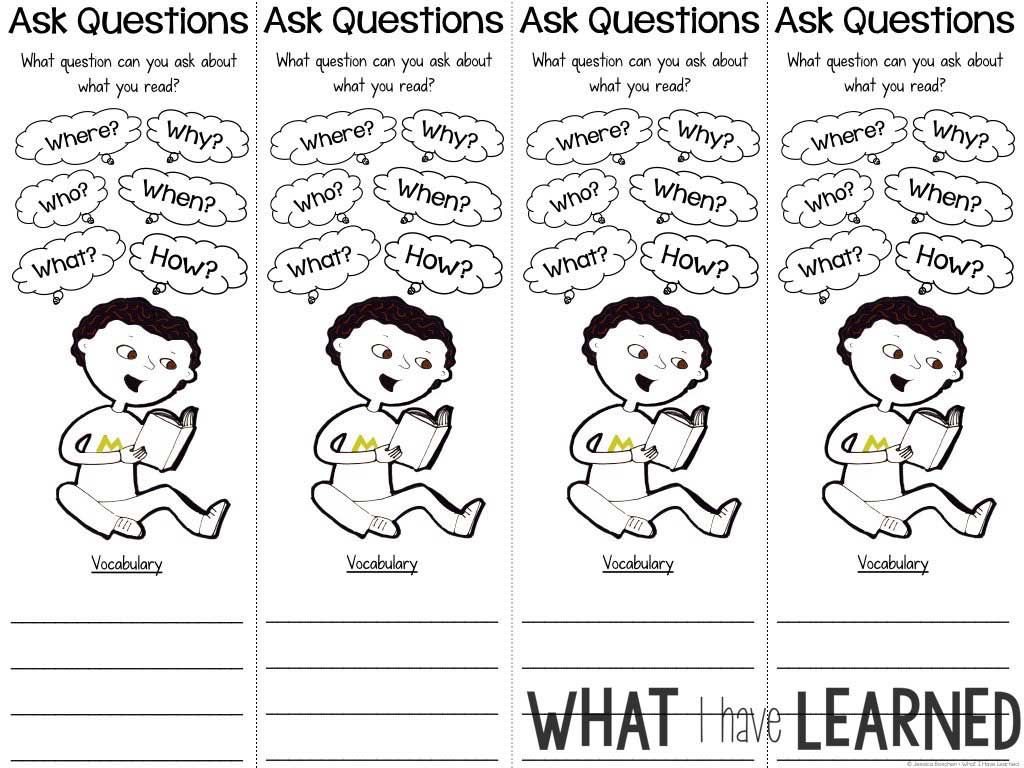 Reading Comprehension Bookmarks To Support Academic Language