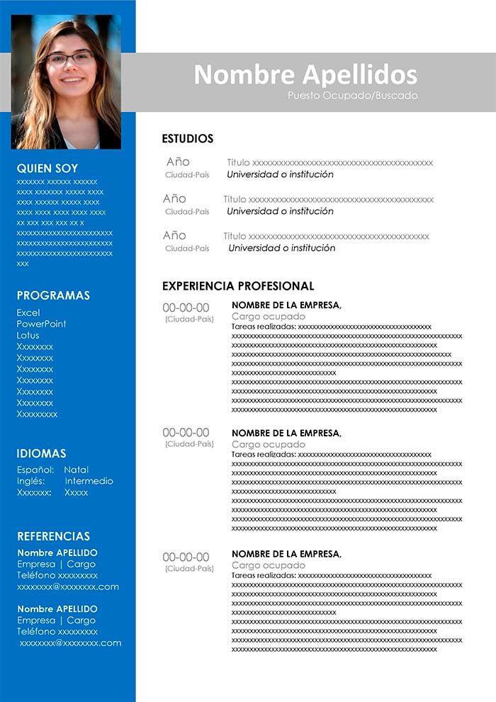 curriculum vitae para descargar y editar | formato curriculum ...