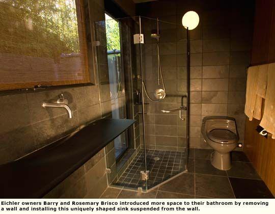 Eichler Bathroom Reno Open Airy Feel To Shower Area Bathroom