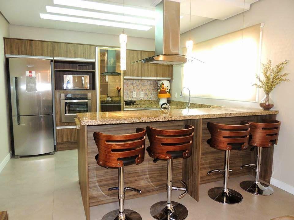 21 cozinhas americanas modernas veja modelos de bancadas for Casa moderna americana