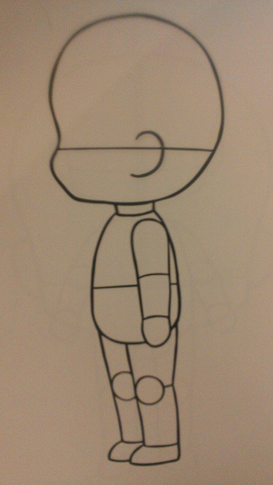 Free Chibi Body Template By Kaotikkupkake On Deviantart  Drawing