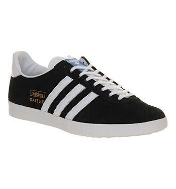012ec63e1387 Adidas Gazelle Og Black White Metallic Gold - His trainers Chaussure
