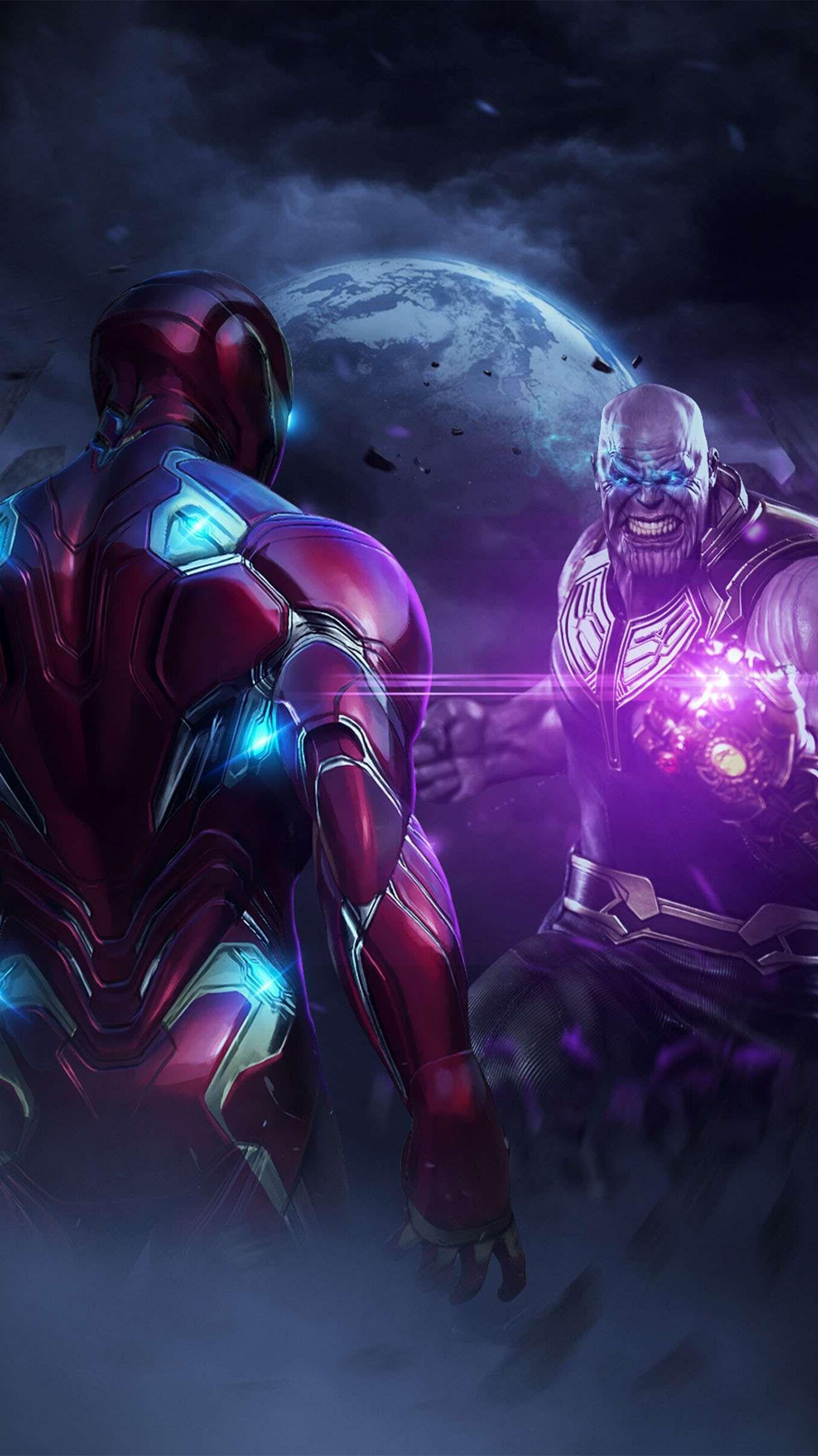 Iron Man Vs Thanos Endgame Iphone Wallpaper Iron Man Wallpaper