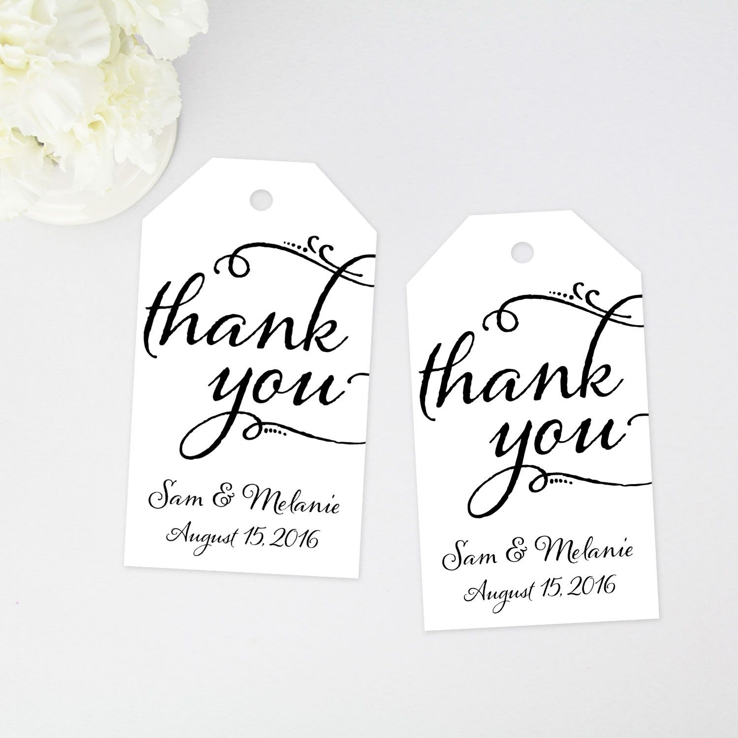 thank you tags - wedding favor tags - any occasion thank you tags ...