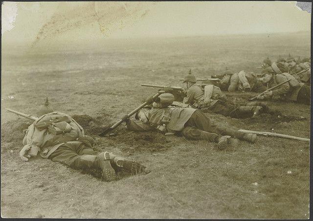 Nationaal Archief, Collectie Eerste Wereldoorlog. (158-1756) Duitse soldaten tijdens een oefening