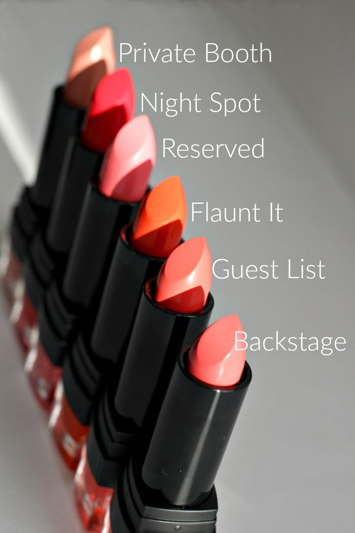 Sleek VIP lipsticks colours