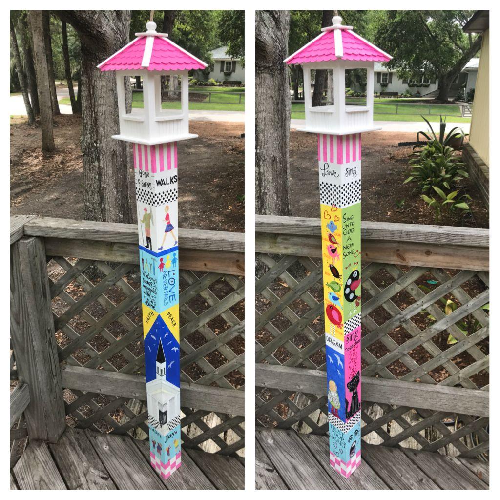 Made By Collage Garden Art Projects Diy Garden Decor Garden Poles