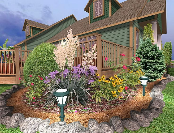 Landscaping Around Deck Ideas Pinteres