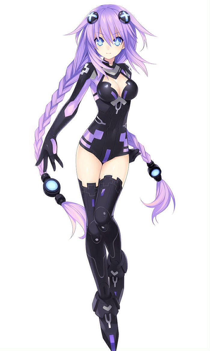 Anime girl purple hair