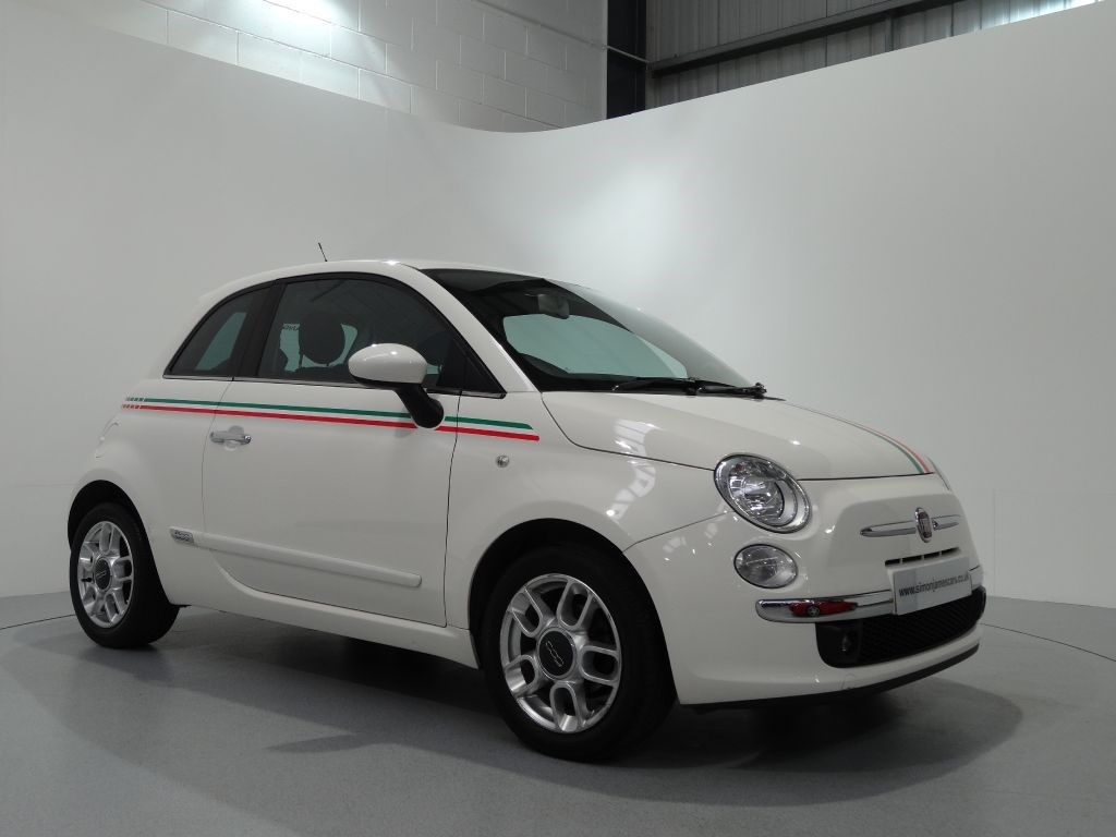 Fiat 500 1 2 sport finished in bossanova white with grey and black half leather sport interior