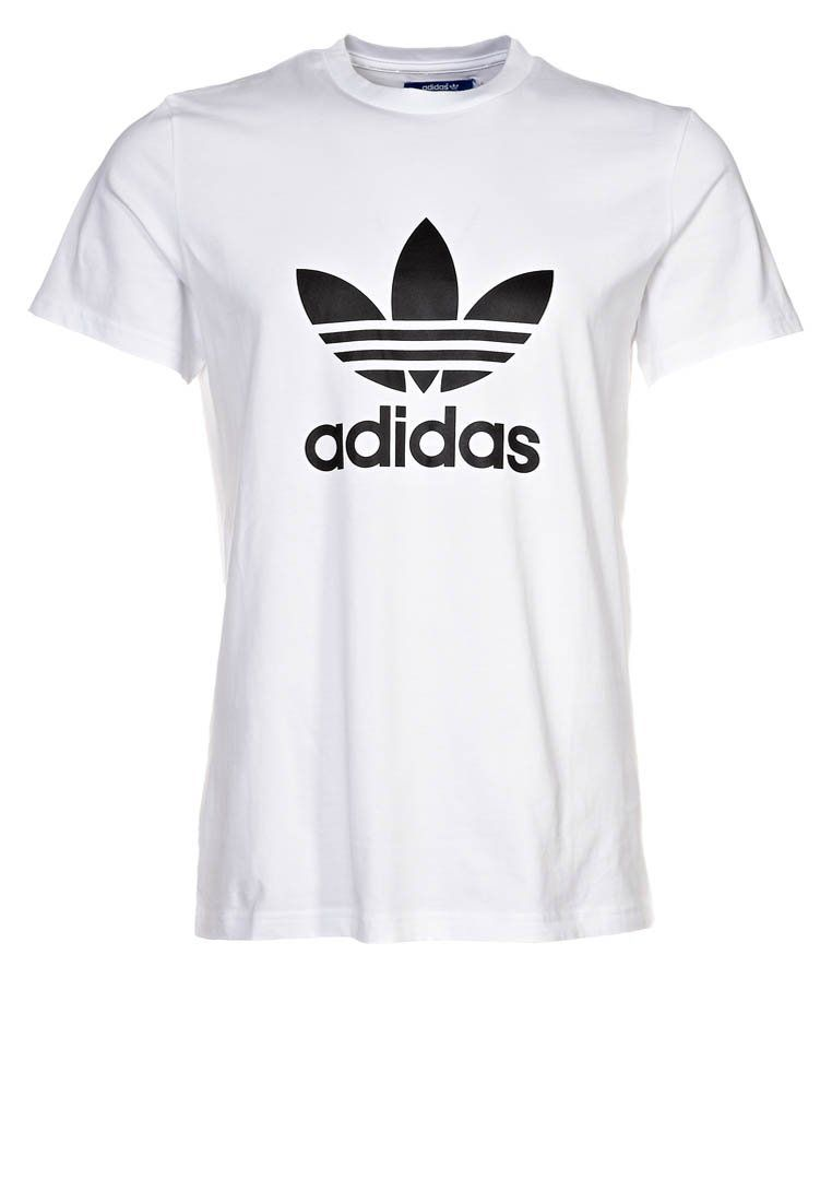 T Adi Print co Trefoil Shirt WhiteblackZalando uk zMUVpqS
